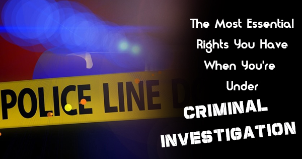 facing a criminal investigation