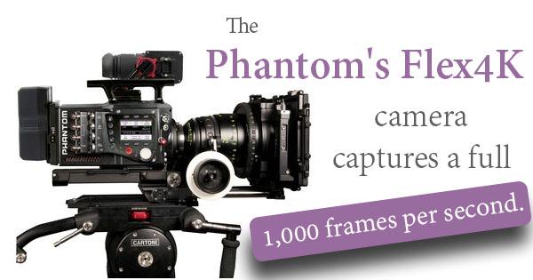 The Phantom Flex4K Camera: The Cinematographer's High Speed Camera