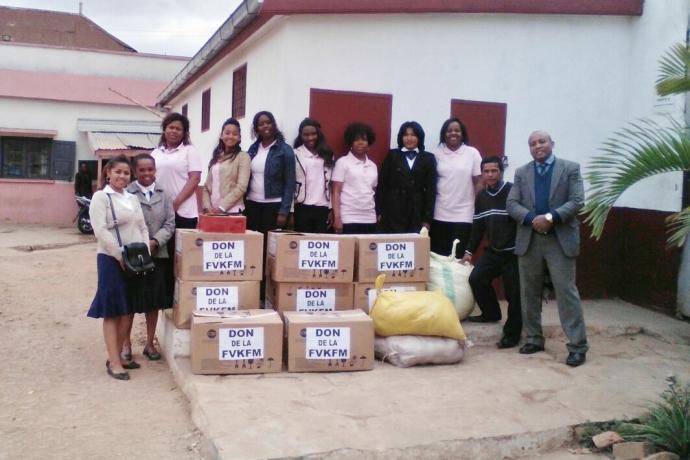 Ações sociais em Madagascar contribuem com instituições e comunidades carentes
