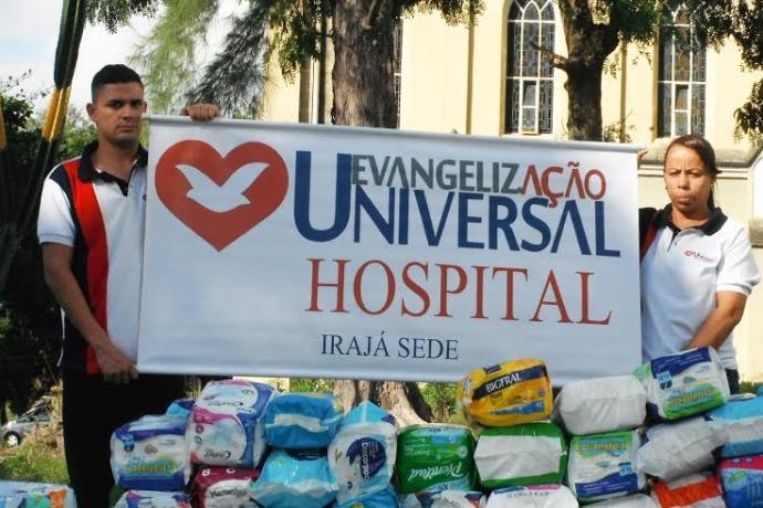 Voluntários da Universal levam doações e amor a pacientes de hospital no Rio de Janeiro