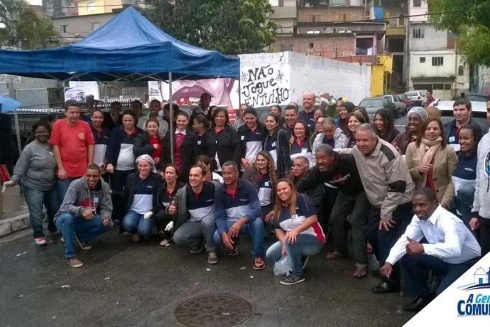 A Gente da Comunidade realiza ação social na zona norte da capital paulista