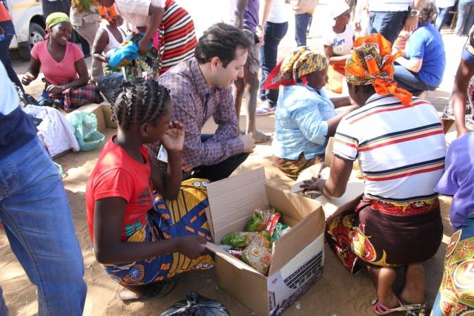 Vítimas da seca em Moçambique recebem ajuda