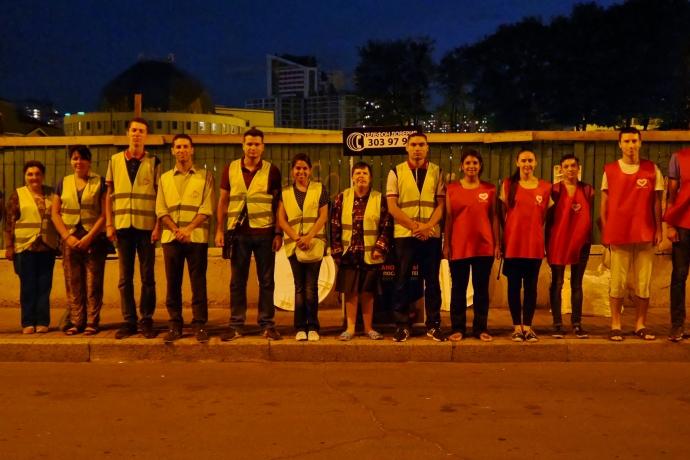 Anjos da Noite auxiliam moradores de rua na capital ucraniana