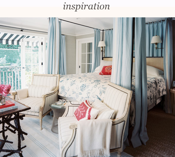 Lonny_2_bedroom_pair_armchairs_foot_canopy_bed_outfitted_