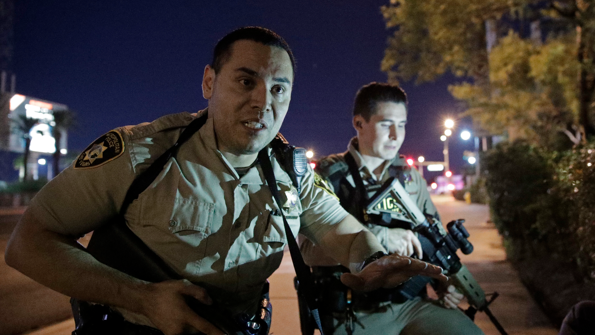 At least 20 dead, 100 injured at shooting on Las Vegas Strip, police say