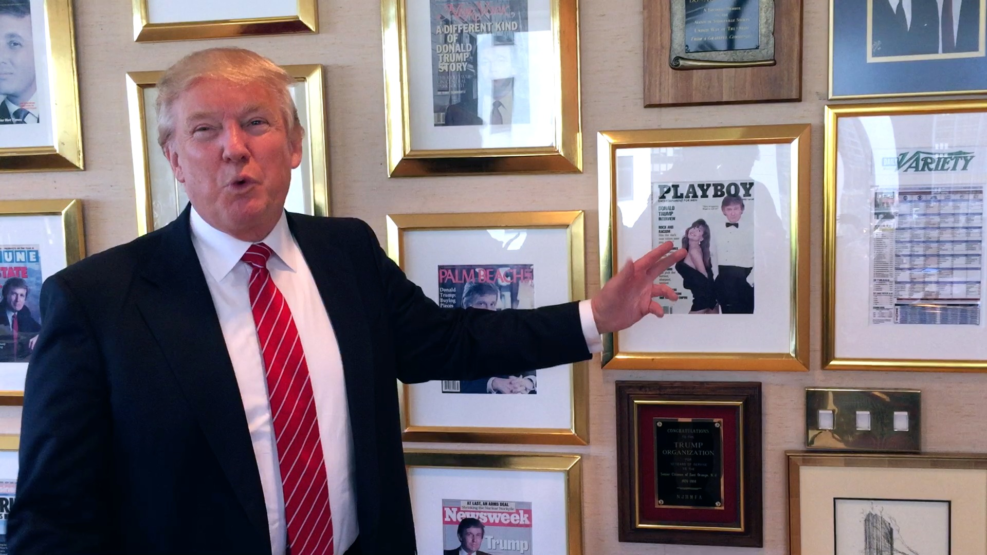 Donald Trump Gives Us A Tour Of His Trump Tower Office
