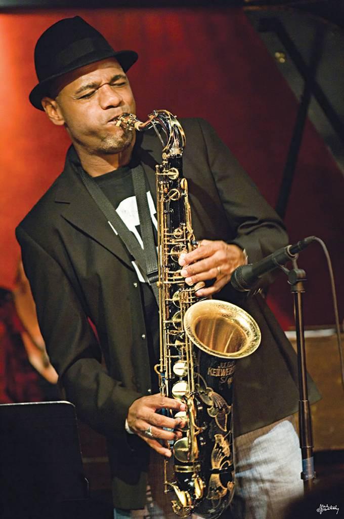 Kirk Whalum playing saxophone