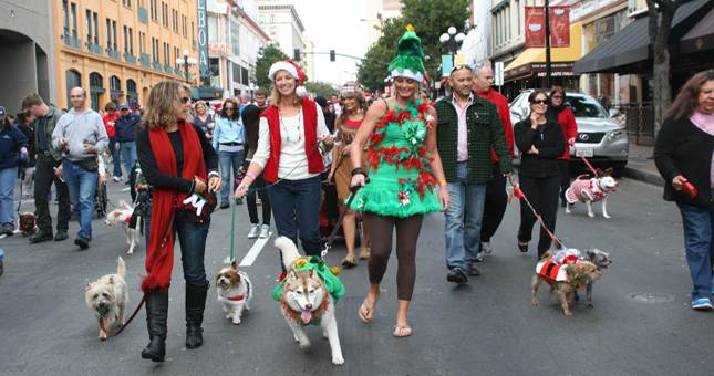 vet + pet west gaslamp holiday pet parade