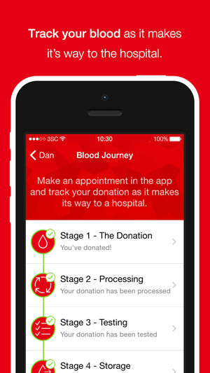 track your blood app