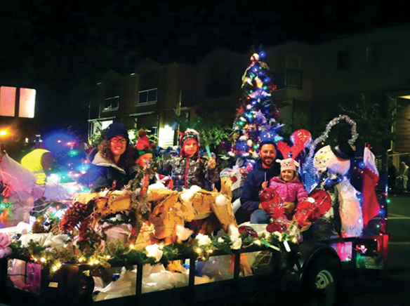 alpine village christmas parade and snow festival