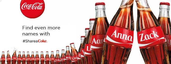 coca-cola share a coke brand