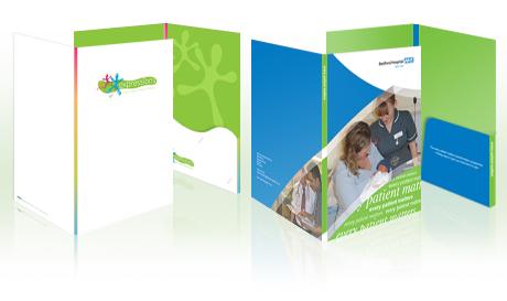 Presentation folders material
