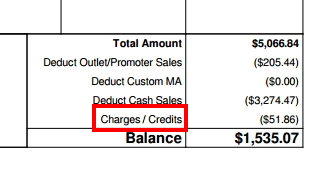 what-is-charges-credits-at-the-bottom-of-my-settlement-report