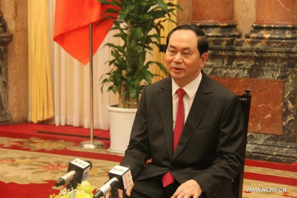 Interview: Vietnamese president looks forward to Belt and Road forum in China