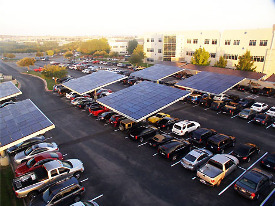 Dell HQ Gets a 130 kW Solar Parking Lot with Plug-In Charging Stations
