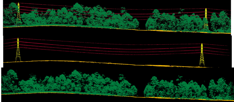 LiDAR imagery of electric wires