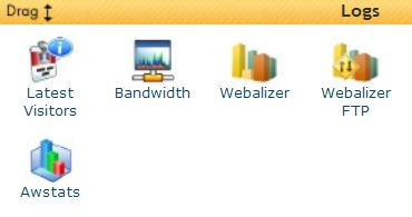 HostGator cPanel stats icon