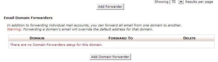 HostGator cPanel forwarder