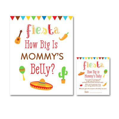 Baby-Shower-Fiesta-White-Red-Mommys-Belly