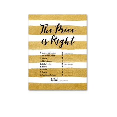 Baby-Shower-Printable-Gold-Foil-Price-Is-Right