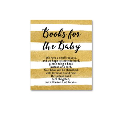 Baby-Shower-Printable-Gold-Foil-Books-For-Baby