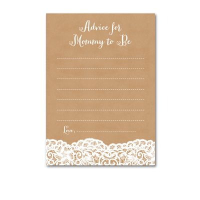Baby-Shower-Kraft-Lace-Advice-For-Mommy