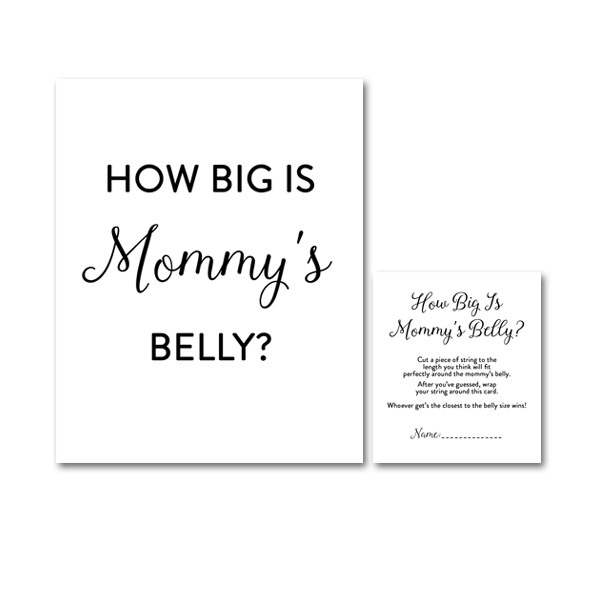 It is an image of Hilaire How Big is Mommy's Belly Printable