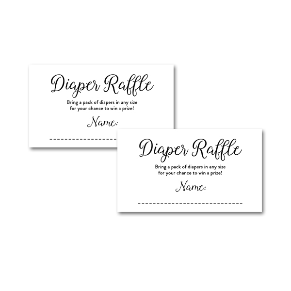 It's just a graphic of Intrepid Free Printable Diaper Raffle Tickets Black and White