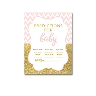 Baby-Shower-Printable-Pink-Gold-Chevron-Predictions