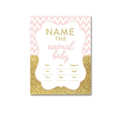 Baby-Shower-Printable-Pink-Gold-Chevron-Name-Animal-Baby