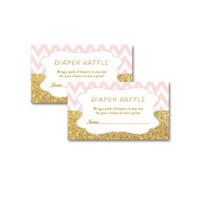 Baby-Shower-Printable-Pink-Gold-Chevron-Diaper-Raffle