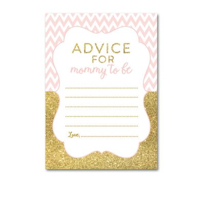 Baby-Shower-Printable-Pink-Gold-Chevron-Advice-For-Mommy