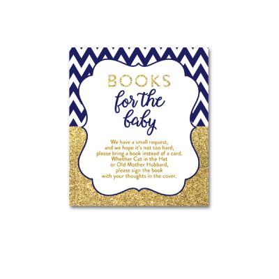 Baby-Shower-Printable-Navy-Gold-Books-For-Baby