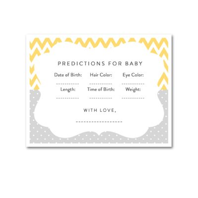 Baby-Shower-Yellow-Gray-Predictions