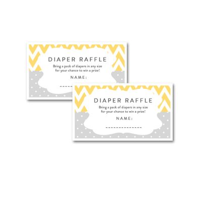 Baby-Shower-Yellow-Gray-Diaper-Raffle