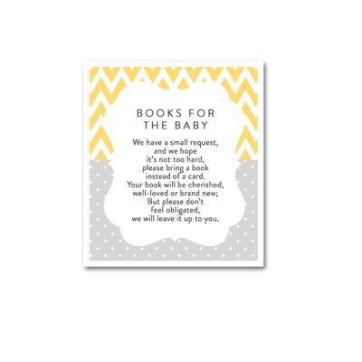 Baby-Shower-Yellow-Gray-Books-For-Baby