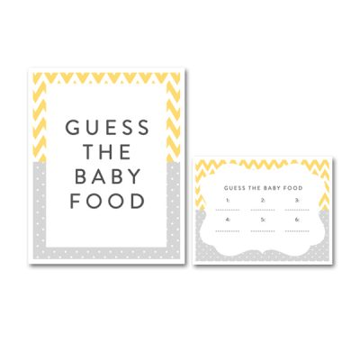 Baby-Shower-Yellow-Gray-Baby-Food