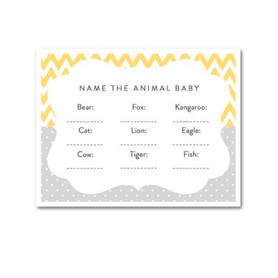 Baby-Shower-Yellow-Gray-Animal-Baby