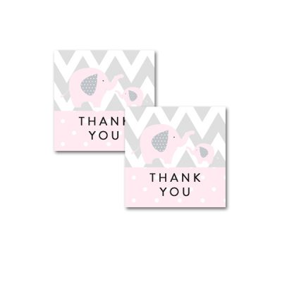 Baby-Shower-Pink-Gray-Elephant-Thank-You-Tags