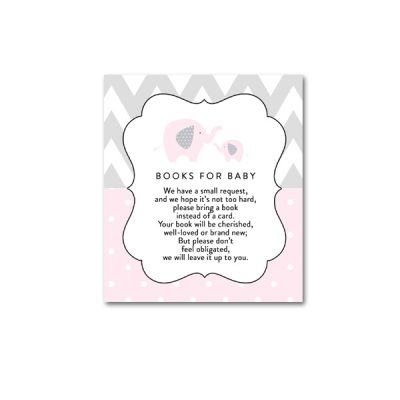 Baby-Shower-Pink-Gray-Elephant-Books-For-Baby