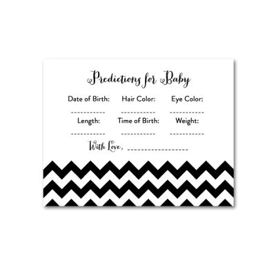 Baby-Shower-Black-White-Chevron-Predictions-For-Baby