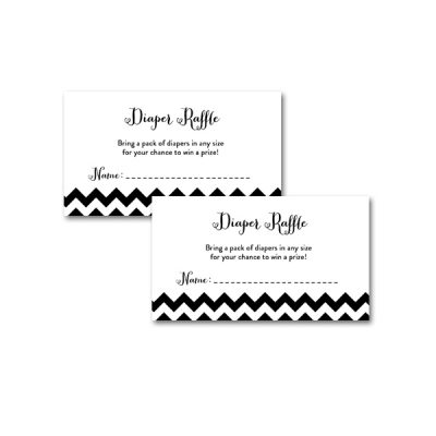 Baby-Shower-Black-White-Chevron-Diaper-Raffle