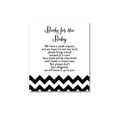 Baby-Shower-Black-White-Chevron-Books-For-Baby