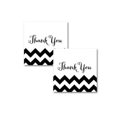Baby-Shower-Black-White-Chevron-Thank-You-Tag