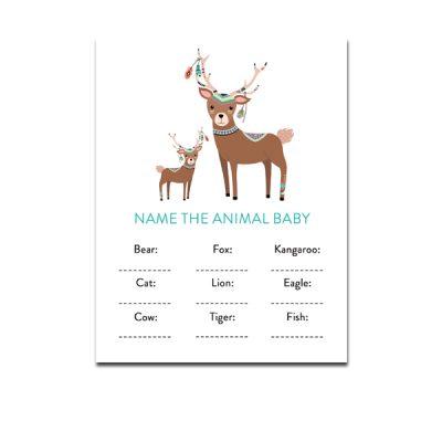 Baby-Shower-Tribal-Deer-Name-Animal-Baby