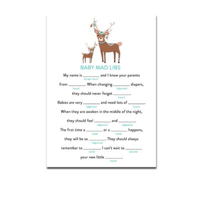 Baby-Shower-Tribal-Deer-Mad-Libs