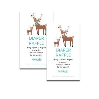 Baby-Shower-Tribal-Deer-Diaper-Raffle