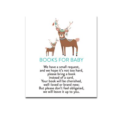 Baby-Shower-Tribal-Deer-Books-For-Baby