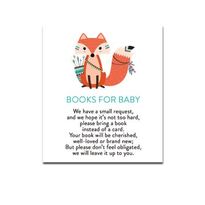 Baby-Shower-Printable-Tribal-Fox-Books-For-Baby