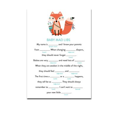 Baby-Shower-Printable-Tribal-Fox-Baby-Mad-Libs